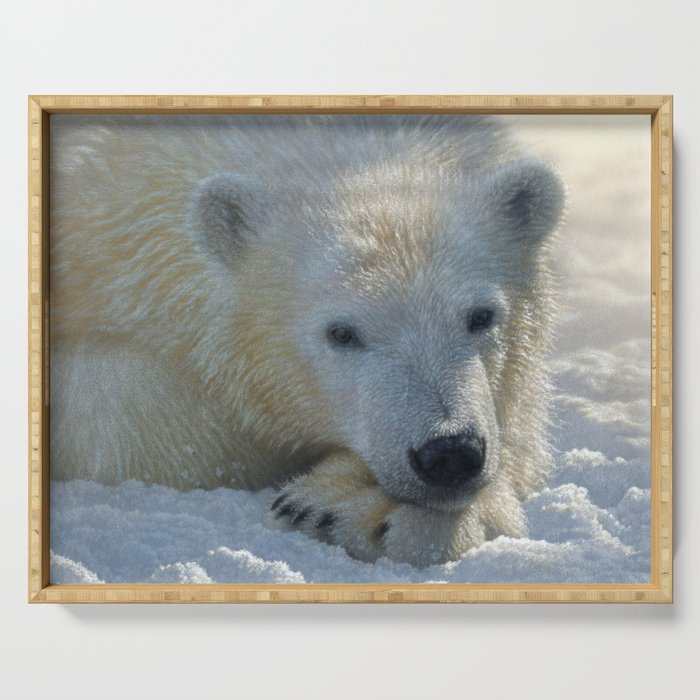Polar Bear Cub Serving Tray