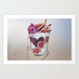 Colorful Fruit Cup Art Print