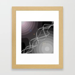 Simple Path Framed Art Print
