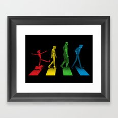 Stray Dog Strut Framed Art Print