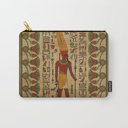 Egyptian Amun Ra - Amun Re Ornament on papyrus Carry-All Pouch