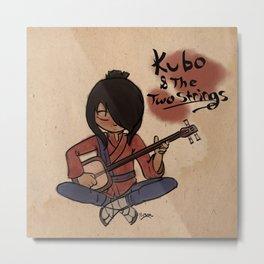 Kubo Calligraphy Metal Print