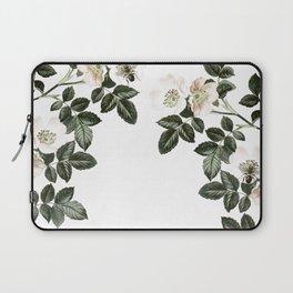 Blackberry Spring Garden - Birds and Bees Floral II Laptop Sleeve