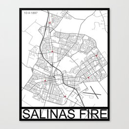 Salinas Fire Canvas Print