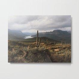 Desert River Sunset Metal Print