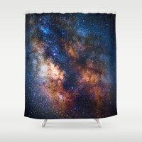 milky way Shower Curtains featuring Milky Way by Zavu