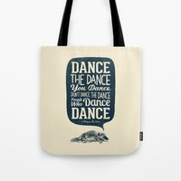 platypus Tote Bags featuring Platypus The Wise by Victor Vercesi