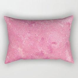Abstract modern pink white paint texture Rectangular Pillow