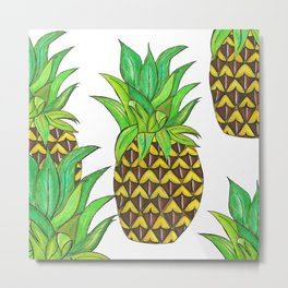 Perky pineapple Metal Print