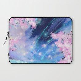 Fantasy cherry blossom anime galaxy Laptop Sleeve