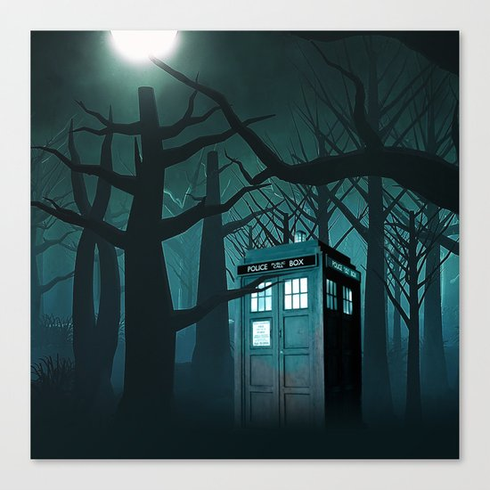 Tardis in the Forest of The Night Canvas Print
