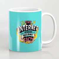 internet Mugs featuring The Internet. by Chris Piascik