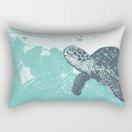 Sea Foam Sea Turtle Rectangular Pillow