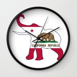 California Republican Elephant Flag Wall Clock