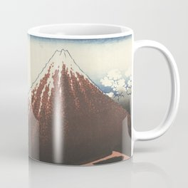 Rainstorm at the foot of the mountain - Katsushika Hokusai (1829-1833) Coffee Mug