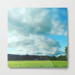 Frolic Like The Clouds Across The Grass Metal Print