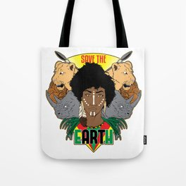 Save the eARTh (Africa) Tote Bag