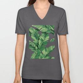 Tropical banana leaves VI Unisex V-Ausschnitt