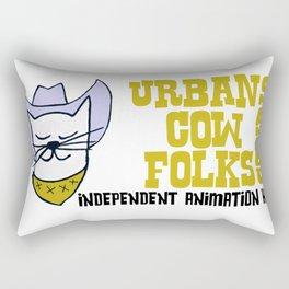 Urbancowfolks Studio Kitty Mustard Logo Rectangular Pillow