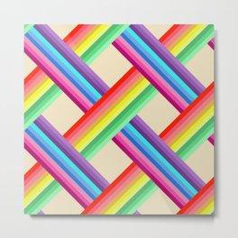 Rainbow Twist Metal Print