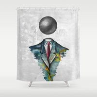 magritte Shower Curtains featuring Mr. Man • René Magritte by Ian Vicknair