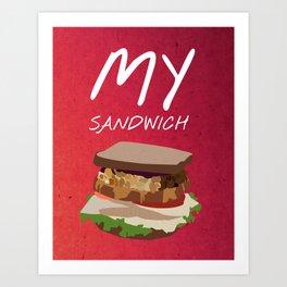 Friends 20th - My Sandwich Art Print