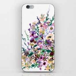 Scarlett Floral Pastel iPhone Skin