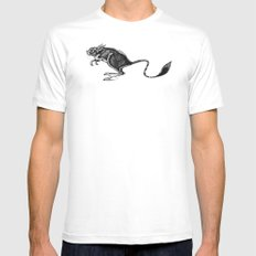Mouse MEDIUM Mens Fitted Tee White