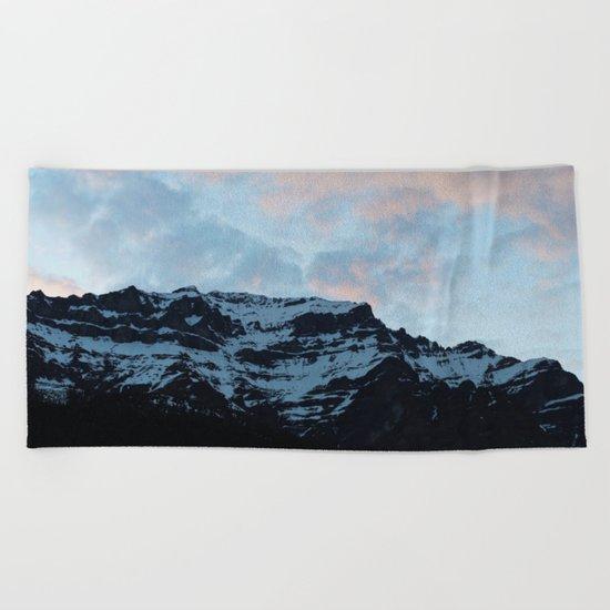 Sunset Mountains Beach Towel