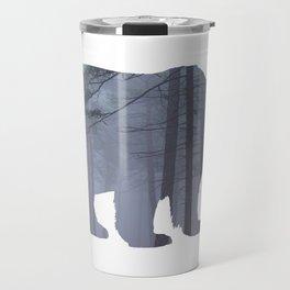 Bear Silhouette Woods Country Home Decor Farmhouse Art A068b Travel Mug