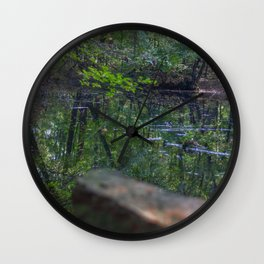 Calm Lake in the Woods Wall Clock