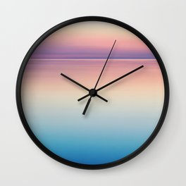 Rainbow Sunset Ocean Wall Clock