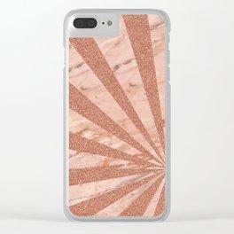 Rose gold sunburst Clear iPhone Case