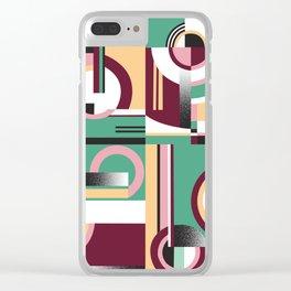 Bauhaus/ Deco 2 Clear iPhone Case