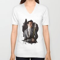 moriarty V-neck T-shirts featuring Moriarty by C. Tyler