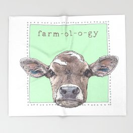 Chipper the Baby Cow Throw Blanket