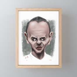 Anthony Hopkins / Hannibal Lecter - Caricature Framed Mini Art Print