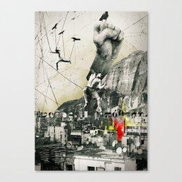 Escaping Sisyphus. Canvas Print