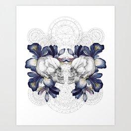 SKULLS & IRIS Art Print