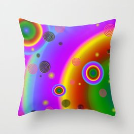 Mod Space Throw Pillow