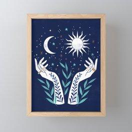 Sun Moon Stars  Framed Mini Art Print
