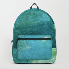 Classical Masterpiece 'Moonlight on the Sound' by Frederick Childe Hassam Backpack
