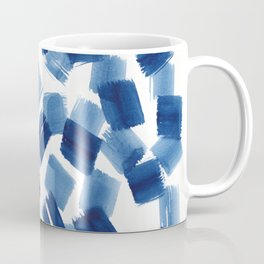 Indigo Brush Strokes | No.1 Coffee Mug