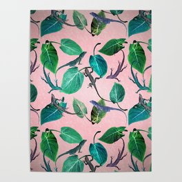 Mayfair Lizards and Leaves Poster