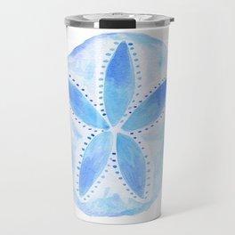 Mermaid Currency - Blue Sand Dollar Travel Mug