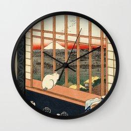 Hiroshige, Asakusa ricefields and torinomachi festival, 1857 Wall Clock