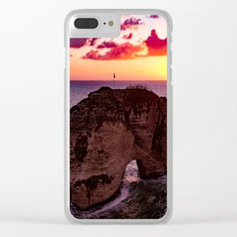 sunset #decor #buyart #society6 Clear iPhone Case