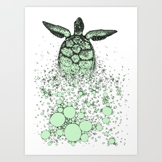 Into_The_Sea2 Art Print