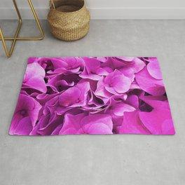 Pink Lilac Magenta Flowers Rug