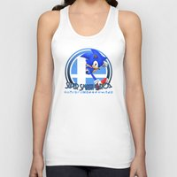 super smash bros Tank Tops featuring Sonic - Super Smash Bros. by Donkey Inferno